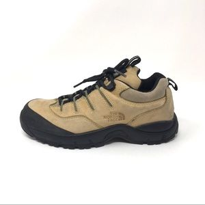 North Face beige leather outdoor/ hiking shoes 7